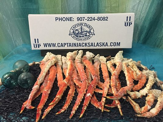 Alaskan Red King Crab Legs - 10 lb. King Crab Feast - Free FedEx ...